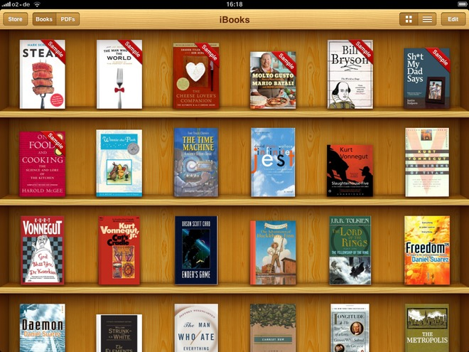 Scheumorfismo: iBooks di Apple
